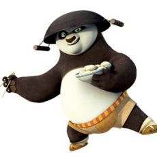 Online coloring pages of Kung Fu Panda
