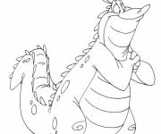 Free coloring and drawings Happy alligator Coloring page