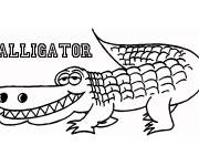 Free coloring and drawings Smiling alligator Coloring page