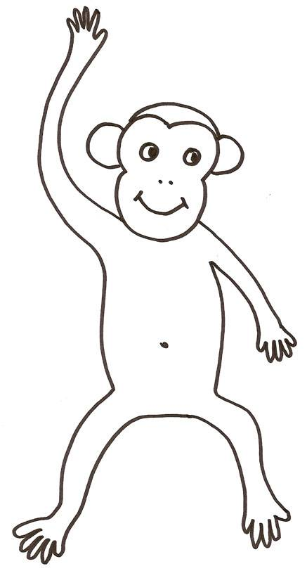 Free coloring and drawings Baboon in pencil Coloring page