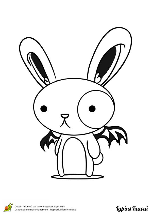 Free coloring and drawings A bat rabbit Coloring page