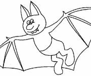 Coloring pages Bat with feet