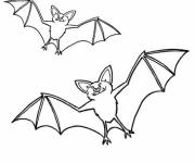 Coloring pages Bats in the sky