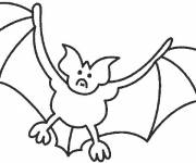 Coloring pages Easy bat
