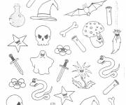 Free coloring and drawings Halloween drawing Coloring page