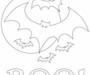 Coloring pages Scary bats