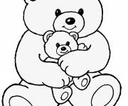 Free coloring and drawings Bear and Plush Coloring page