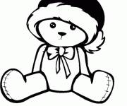 Coloring pages Bear wearing hat