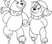 Coloring pages Bears Ski
