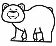 Coloring pages Black and white bear