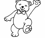 Coloring pages Drawing of a cute bear