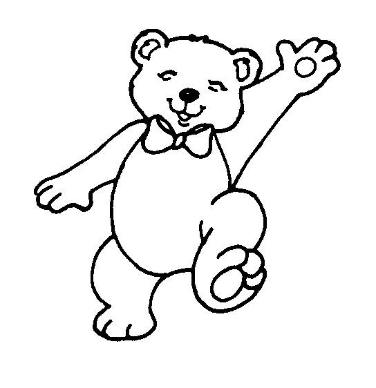 Free coloring and drawings Drawing of a cute bear Coloring page