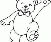 Coloring pages Elegant bear