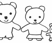 Coloring pages Family bear