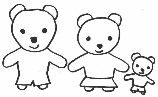 Free coloring and drawings Family bear Coloring page