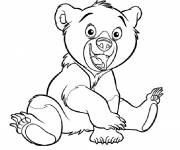 Free coloring and drawings Happy bear Coloring page