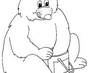 Free coloring and drawings Humorous bear Coloring page