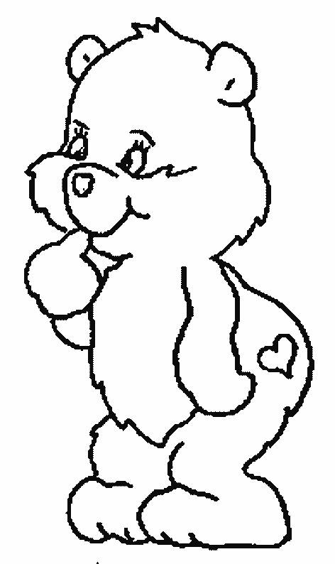 Free coloring and drawings Little Bear for children Coloring page