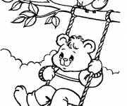 Free coloring and drawings Playing bear Coloring page