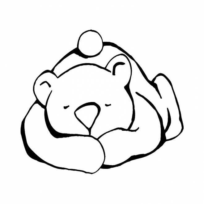 Free coloring and drawings Sleeping bear Coloring page