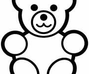 Free coloring and drawings Teddy bear Coloring page