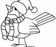 Coloring pages Bird wearing a hat