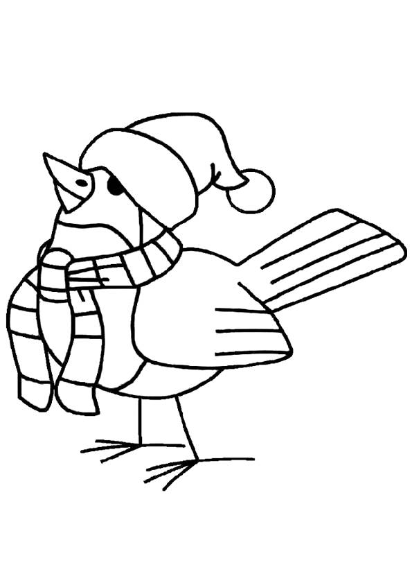 Free coloring and drawings Bird wearing a hat Coloring page