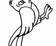 Free coloring and drawings Easy bird Coloring page