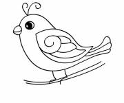 Free coloring and drawings Toy bird Coloring page