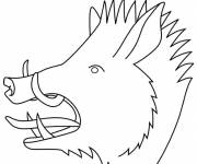 Free coloring and drawings Boar for boys Coloring page