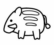Free coloring and drawings Boar on computer Coloring page