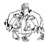 Free coloring and drawings Boar the strong Coloring page