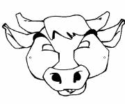 Coloring pages Beef Head