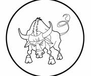 Free coloring and drawings Bull art Coloring page