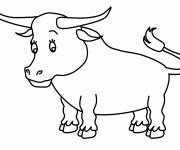 Coloring pages Camargue bull