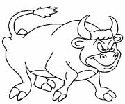 Coloring pages Restless bull