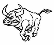 Coloring pages Running bull