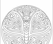 Free coloring and drawings Mandala butterfly Coloring page