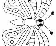 Free coloring and drawings Simple butterfly Coloring page