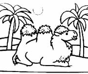 Free coloring and drawings Camel resting Coloring page