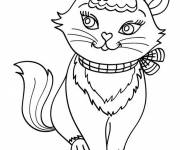 Free coloring and drawings Cute cat for kids Coloring page