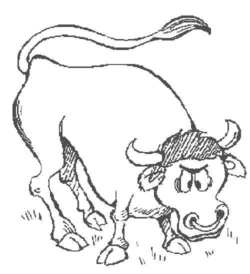 Free coloring and drawings Angry beef Coloring page