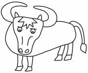Coloring pages Beef for children
