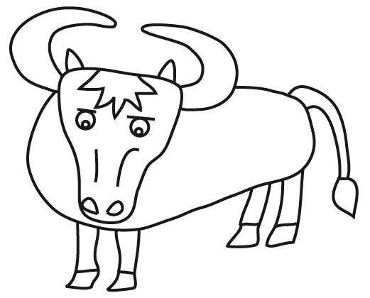 Free coloring and drawings Beef for children Coloring page