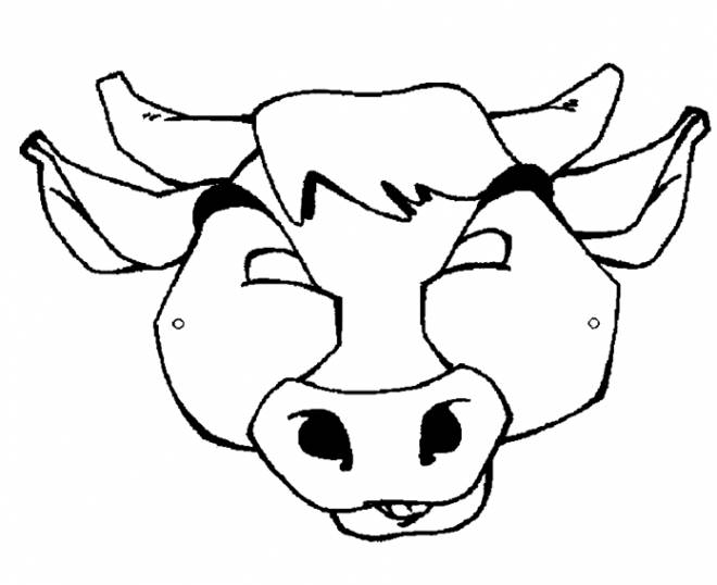 Free coloring and drawings Beef Head Coloring page