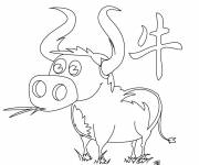 Free coloring and drawings Easy beef Coloring page