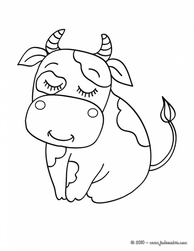 Free coloring and drawings Happy beef Coloring page