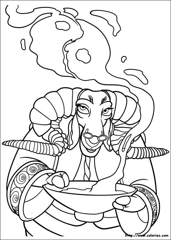 Free coloring and drawings Magician beef Coloring page