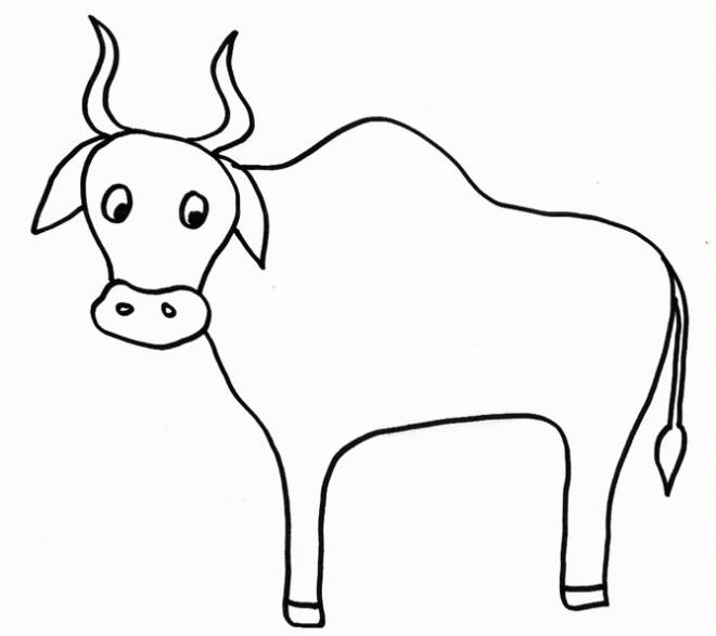 Free coloring and drawings Maternal beef Coloring page