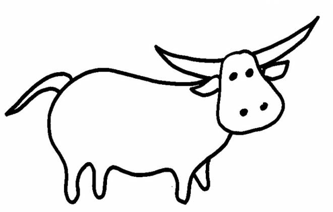 Free coloring and drawings Simple beef Coloring page